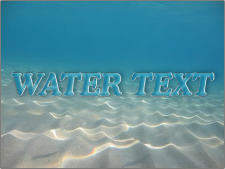 how to add water effects to text